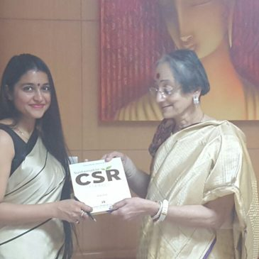 With Dr. Ram, CSR and communications head at Birla group